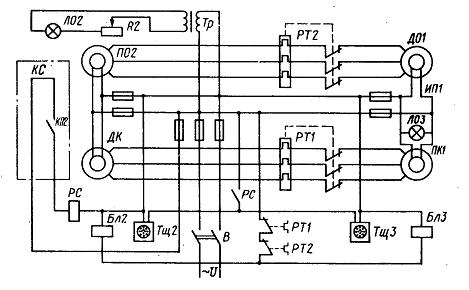 схема машинного телеграфа