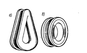 Коуши: а – сердцевидный, б – круглый