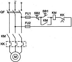 Схема подключения реверсивного двигателя