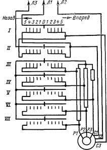 схема для пуска асинхронного двигателя с фазным ротором