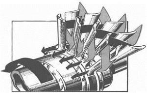 Ступень реактивной турбины