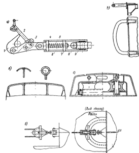 Элементы буксирного устройства
