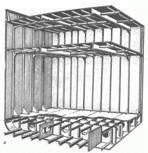 Комбинированная продольно-поперечная система набора судно для массовых грузов