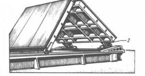 Люковое закрытие (складная крышка) с гидравлическим приводом