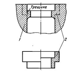 Ремонт посадочного пояса блока постановкой проставочного кольца на эпоксидном составе