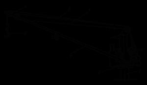 Схема грузового крана