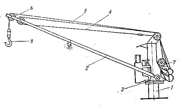 Схема грузового крана.